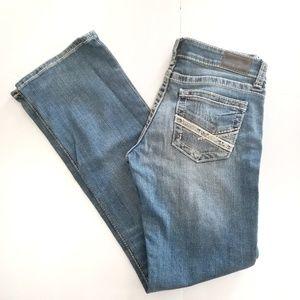 BKE Stella Bootcut jeans 28R distressed EUC